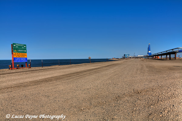 Road to Liberty Oil Rig in the Prudhoe Bay Oilfield, Arctic Alaska<br /> HDR<br /> July 28, 2011