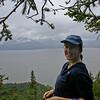 Katie, framed by a lovely Alaskan tree.
