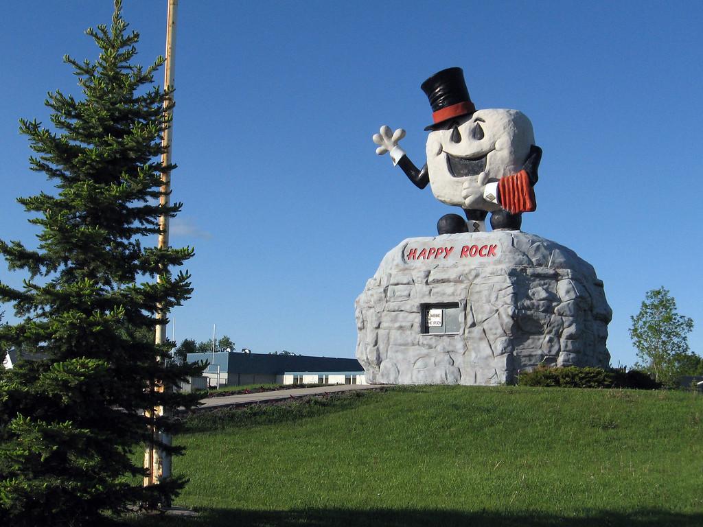 """Happy Rock"": Gladstone, Manitoba. Sponge Bob, eat your heart out!"