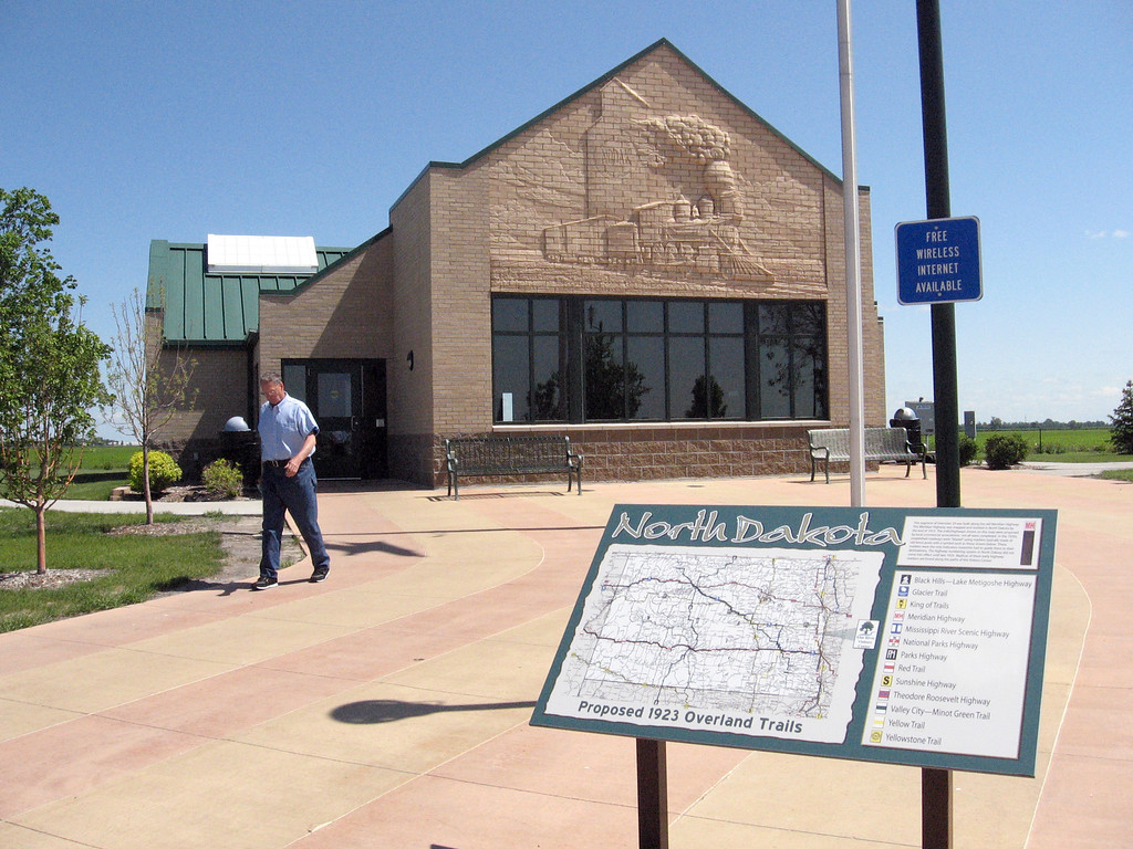 Elm Creek Visitor's Center along northbound Interstate 29 in North Dakota.