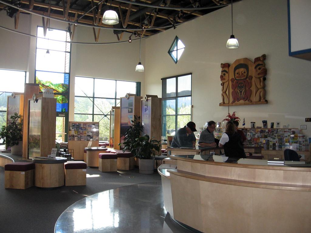 Inside the Yukon Information Center.