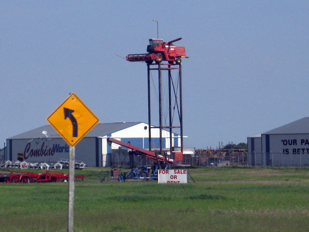 Something you don't see everyday... Near Saskatoon, Saskatchewan.