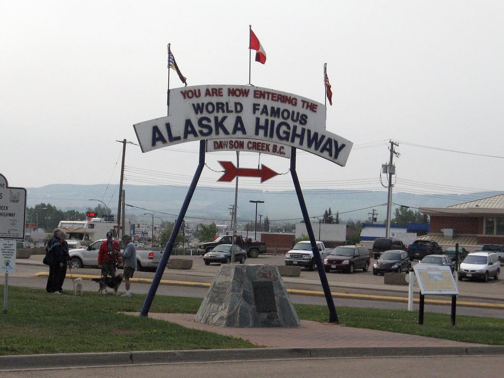 Dawson Creek, B.C. - Gateway to the Alaska Highway.