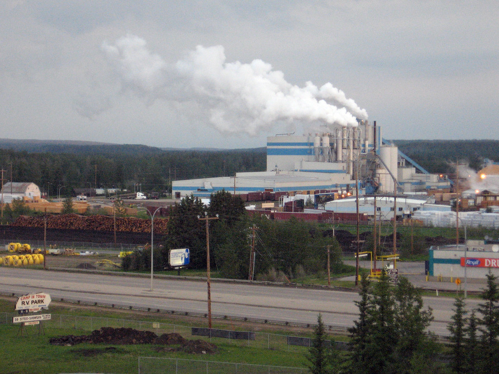 Paper mill at on the outskits of Whitecourt, Alberta.
