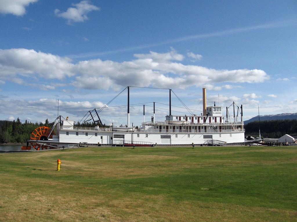 The S.S. Klondike sternwheeler exhibit in Whitehorse, YT.