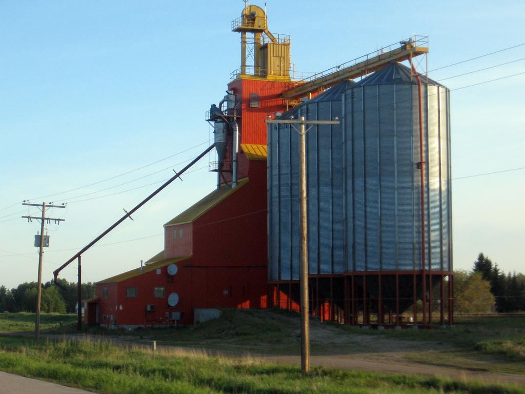 Grain silo in along the Yellowhead Highway in Saskatchewan.