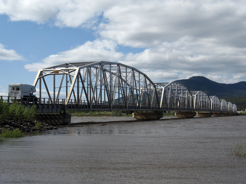 The Nisutlin Bay Bridge near Teslin, YT.
