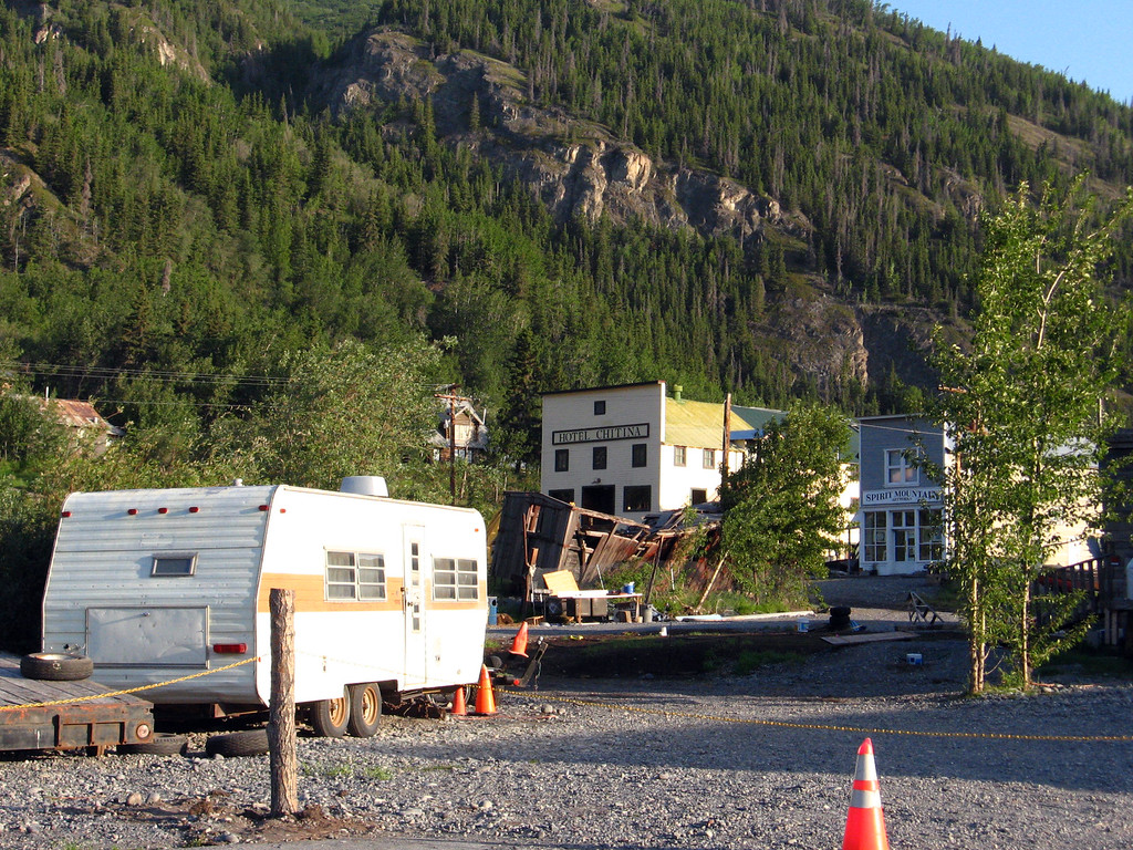 Downtown Chitina: Where the Edgerton Highway ends and McCarthy Road begins.