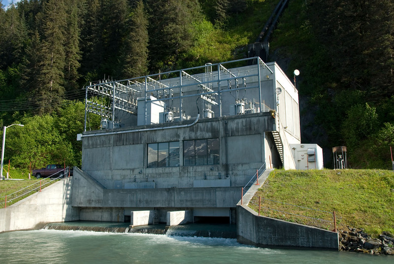 The Solomon Gulch Hydroelectric Power Plant on Dayville Road in Valdez.