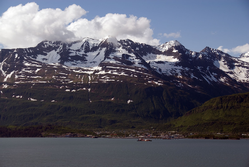 View of Valdez harbor from the Solomon Gulch Trail.