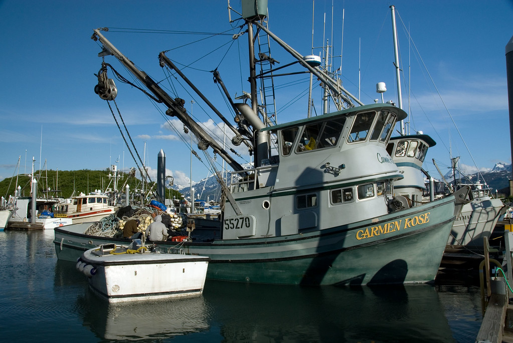 The fishing trawler Carmen Rose in dock.