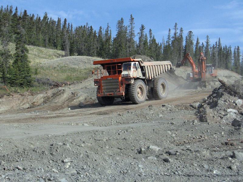More construction at Kluane Lake, YT.