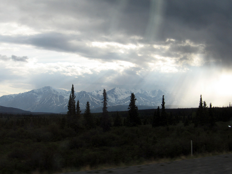 Late clouds over Kluane NP, YT.
