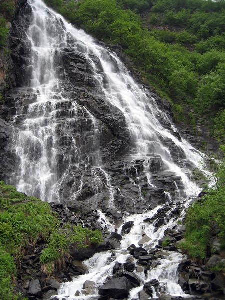 Horsetail falls near Valdez, AK.