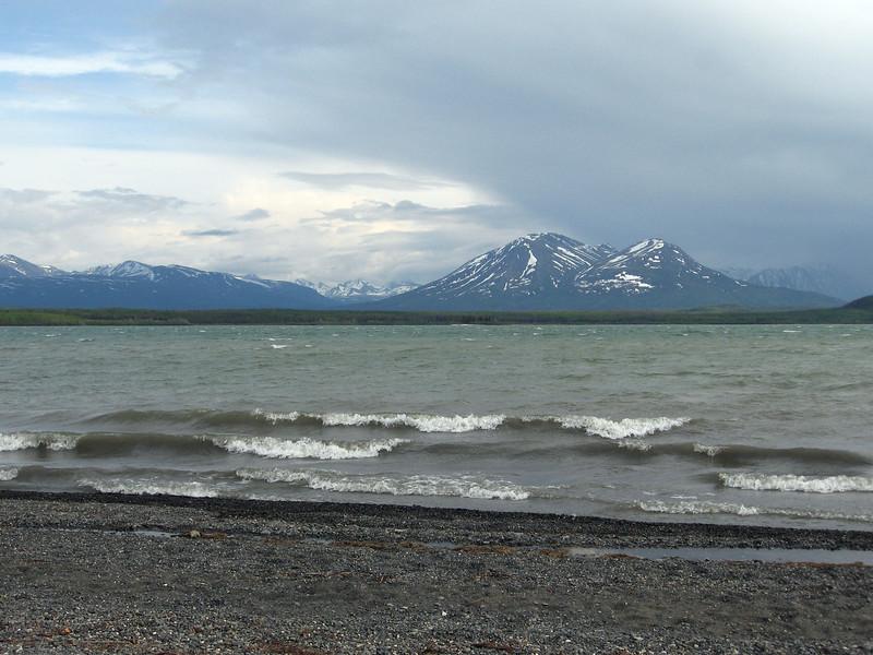 Lake Kathleen in Kluane NP, the Yukon.