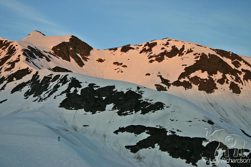Sunset glow of Mt. Alyeska