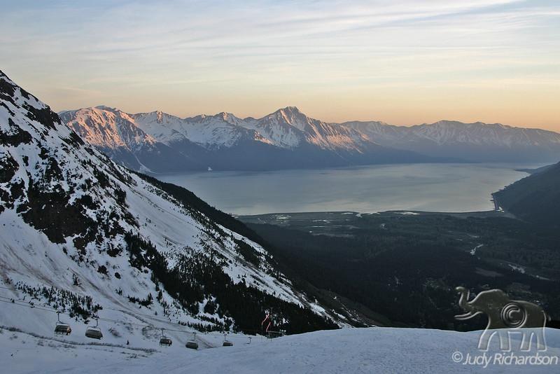 Turnagain Arm  from Mt. Alyeska, Alaska