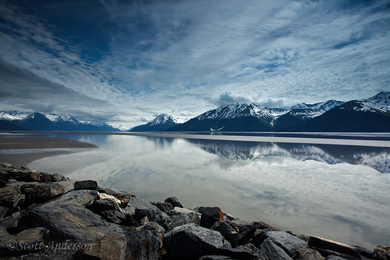 Turnagain Arm, a scenic point along the Seward Highway.
