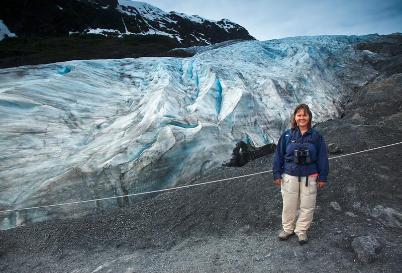 Julie at Exit Glacier