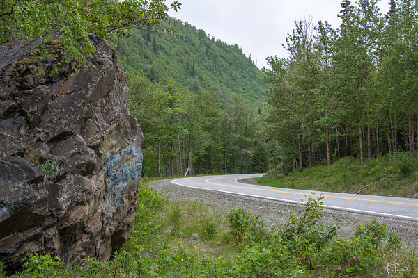 Road behind the rock!