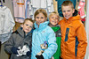 Kyle, Alexa, Aiden, & Taylor looking for mementos of trip to see dog mushing at Seavey's Kennel.