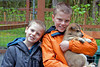 Kyle & Taylor with pup at Seavey's kennel in Seward, Alaska.