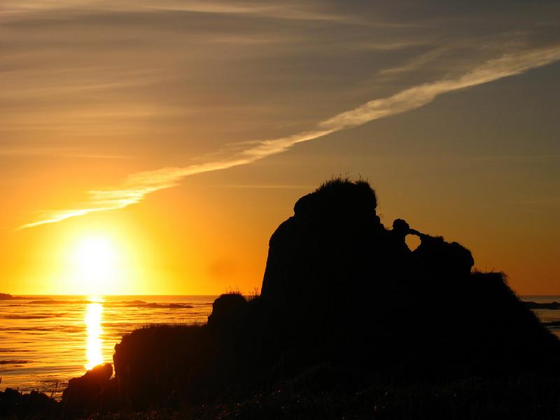 Heart Rock Sunrise Shemya Island, Alaska