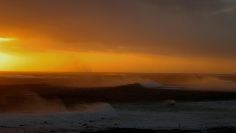Bering Sea waves Shemya Island, Alaska