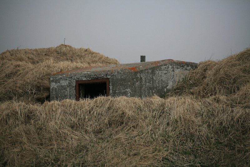 One of many concrete pillboxes left over from WWII.