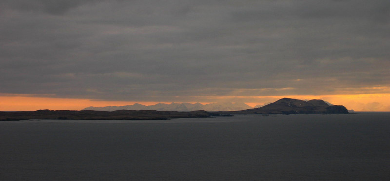 Nizki Island and the mountains far in the background is Attu Island.