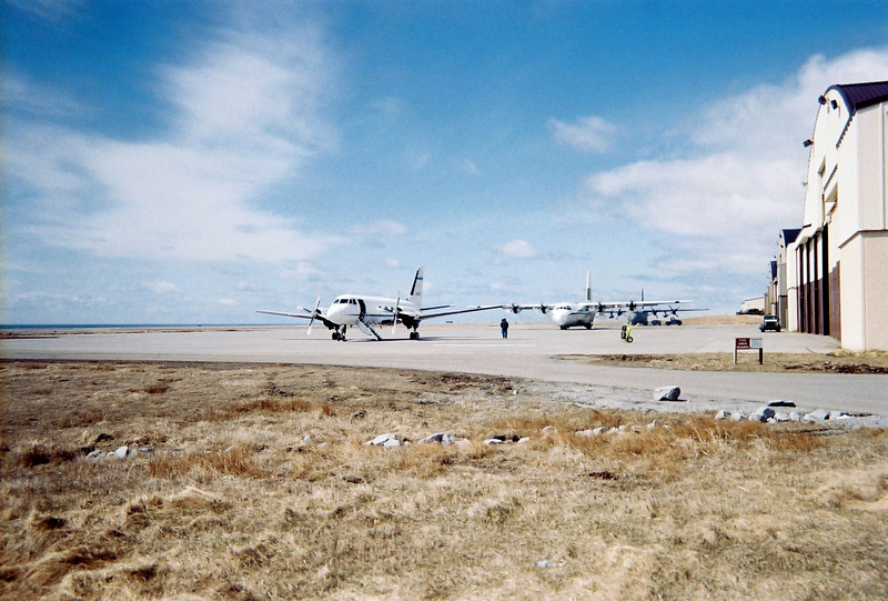 On the left is the G-2, another plane we flew out to Shemya for awhile. In the middle is Lynden Air Cargo and on the right is an Air Force C-130