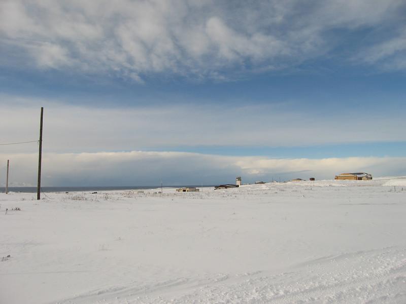 Winter on Shemya Island, Alaska.