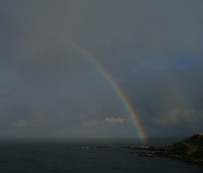 Rainbow over the Bering Sea
