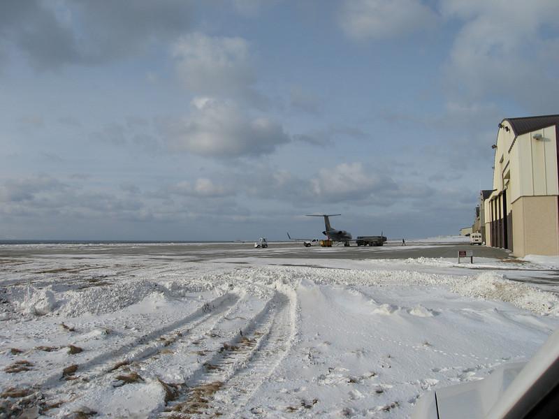 G-3 refueling next to hangars on Shemya.