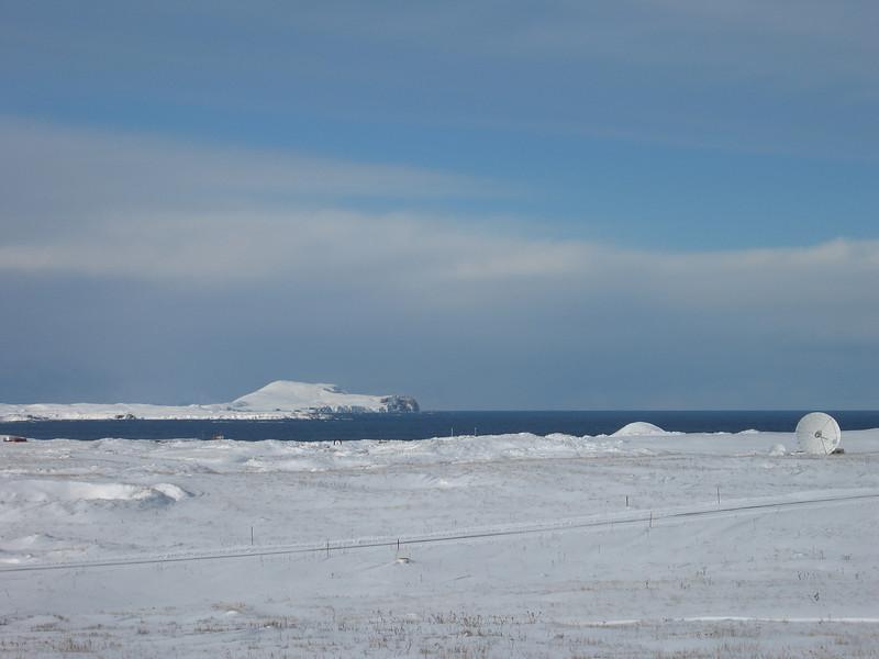 Shemya Island looking out at Nizki Island