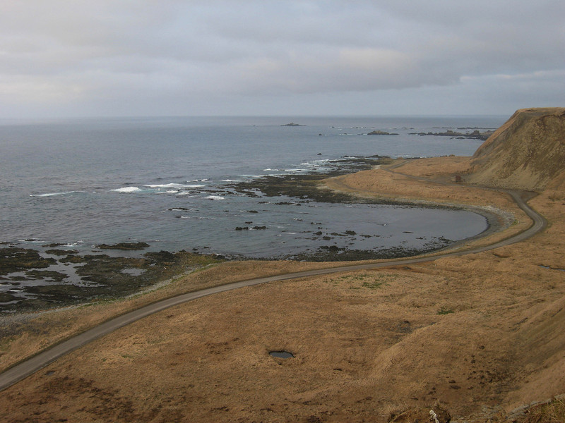 North Beach Road and the Bering Sea