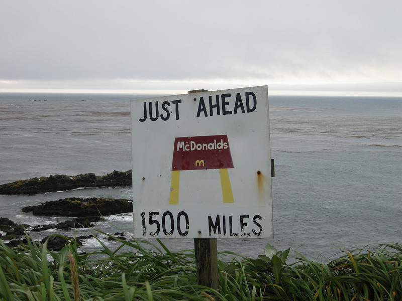 McDonalds Point looking out over where the Bering Sea and Pacific Ocean meet.