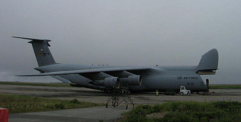 U.S. Air Force C-5 Galaxy Cargo Plane on Shemya Island, Alaska