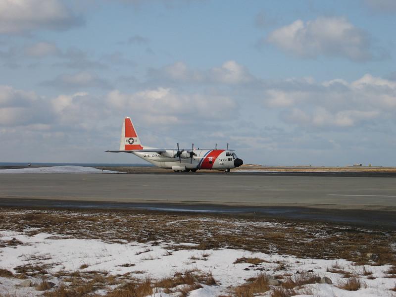 Coast Guard C-130 on Shemya