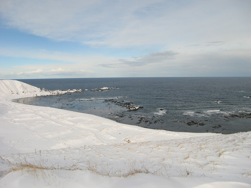 View of North Beach Road and the Bering Sea.