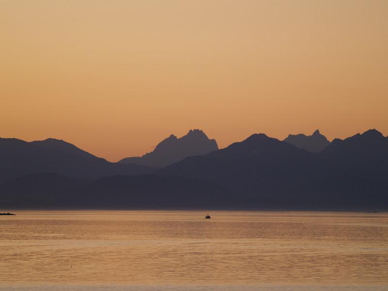Sunset over the Chilkat Range