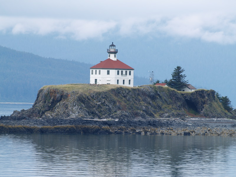 Close pass to Eldred Rock Lighthouse in the northern end of Lynn Canal.