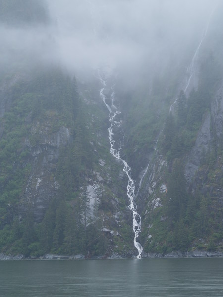 One of the many waterfalls in Tracy Arm