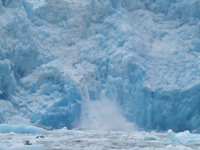 Small calving event at South Sawyer Glacier