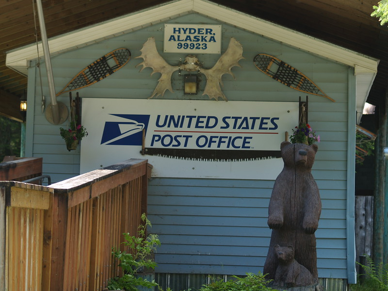 Post office at Hyder, Alaska
