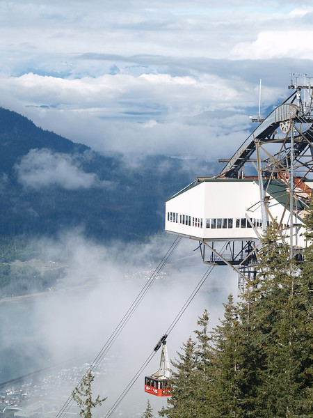 The tram to the top of Mt. Roberts