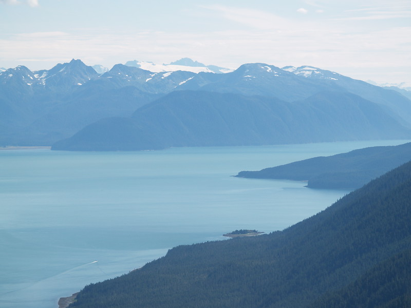 Flightseeing tour - looking south down Gastineau Channel