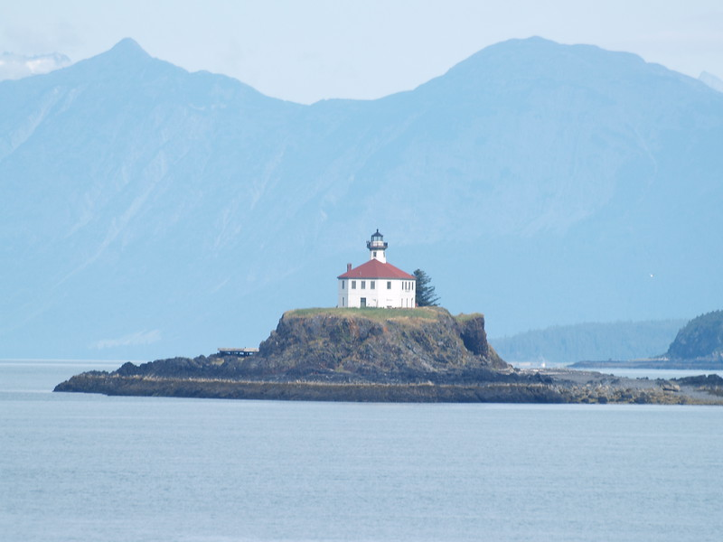 Eldred Rock Lighthouse, about 45 minutes south of Haines on the ferry