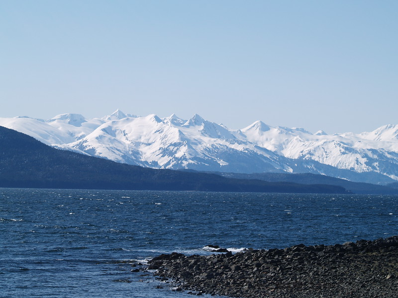 Chilkoot Range from North Douglas Island
