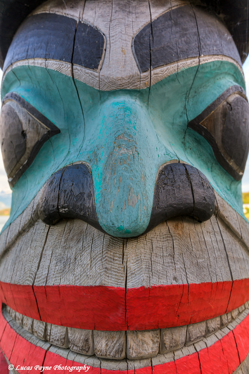 Totem Pole near the Haines Boat Harbor, Southeast Alaska.<br /> <br /> July 02, 2014